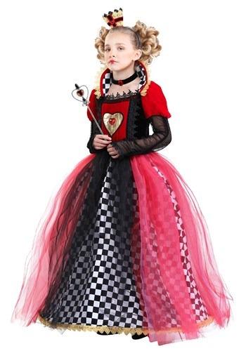 Girl's Ravishing Queen of Hearts Costume