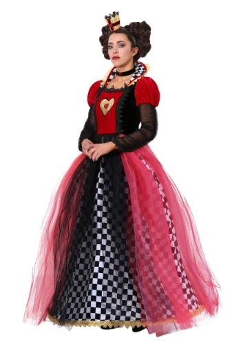 Click Here to buy Ravishing Queen of Hearts Womens Costume from HalloweenCostumes, CDN Funds