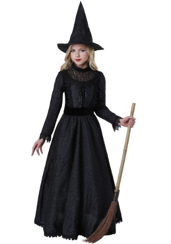Girls Deluxe Dark Witch Costume