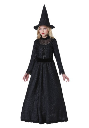 Click Here to buy Deluxe Dark Witch Girls Costume from HalloweenCostumes, CDN Funds