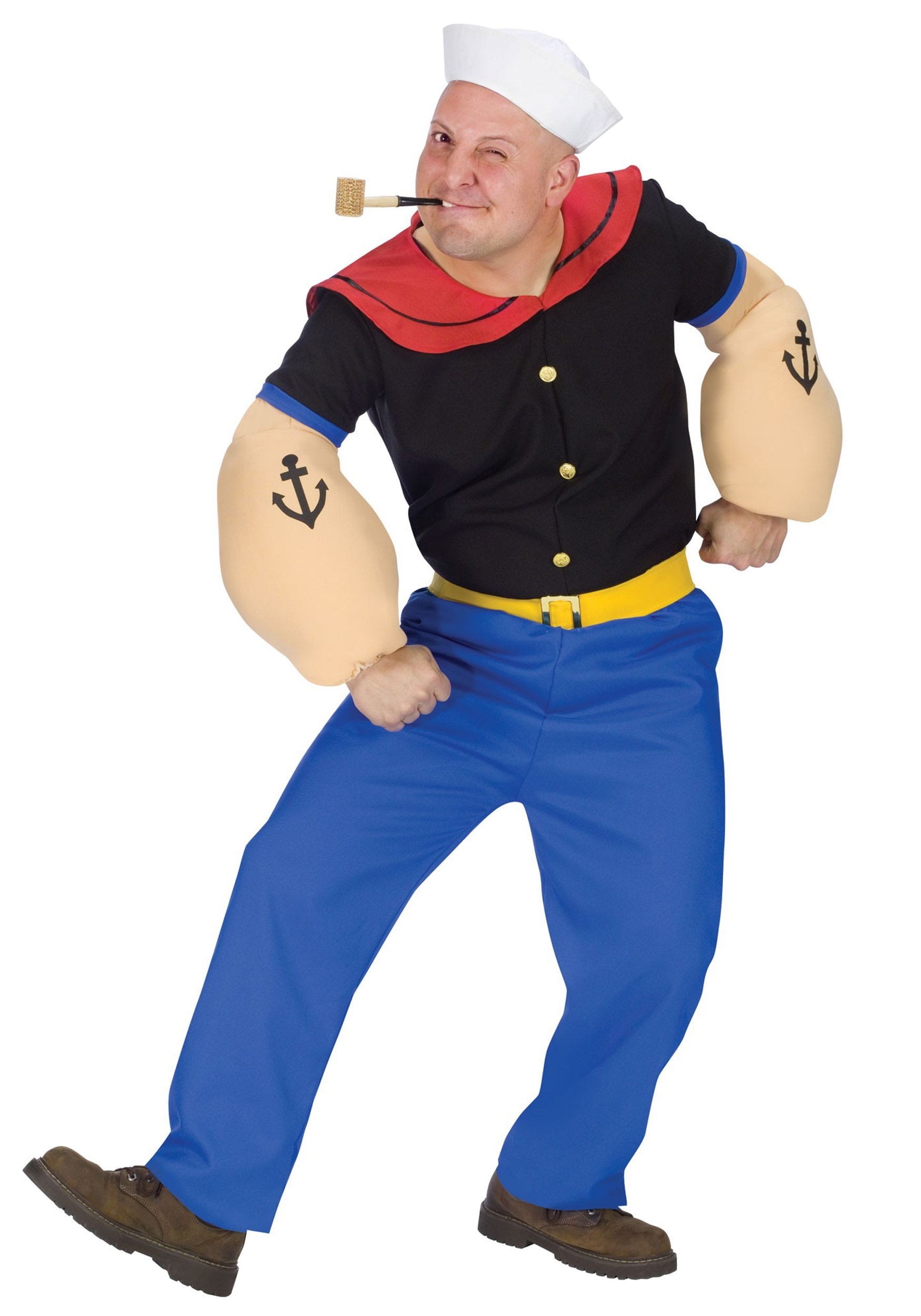 Adult Popeye Costume. Funny Adult Costumes   Mens  Womens Funny Adult Halloween Costume