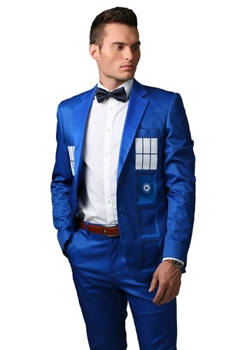 Doctor Who TARDIS Formal Slim Fit Suit Jacket