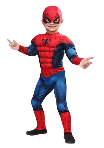 Click Here to buy Marvel Spider-Man Costume for Toddlers from HalloweenCostumes, USA Funds & Shipping