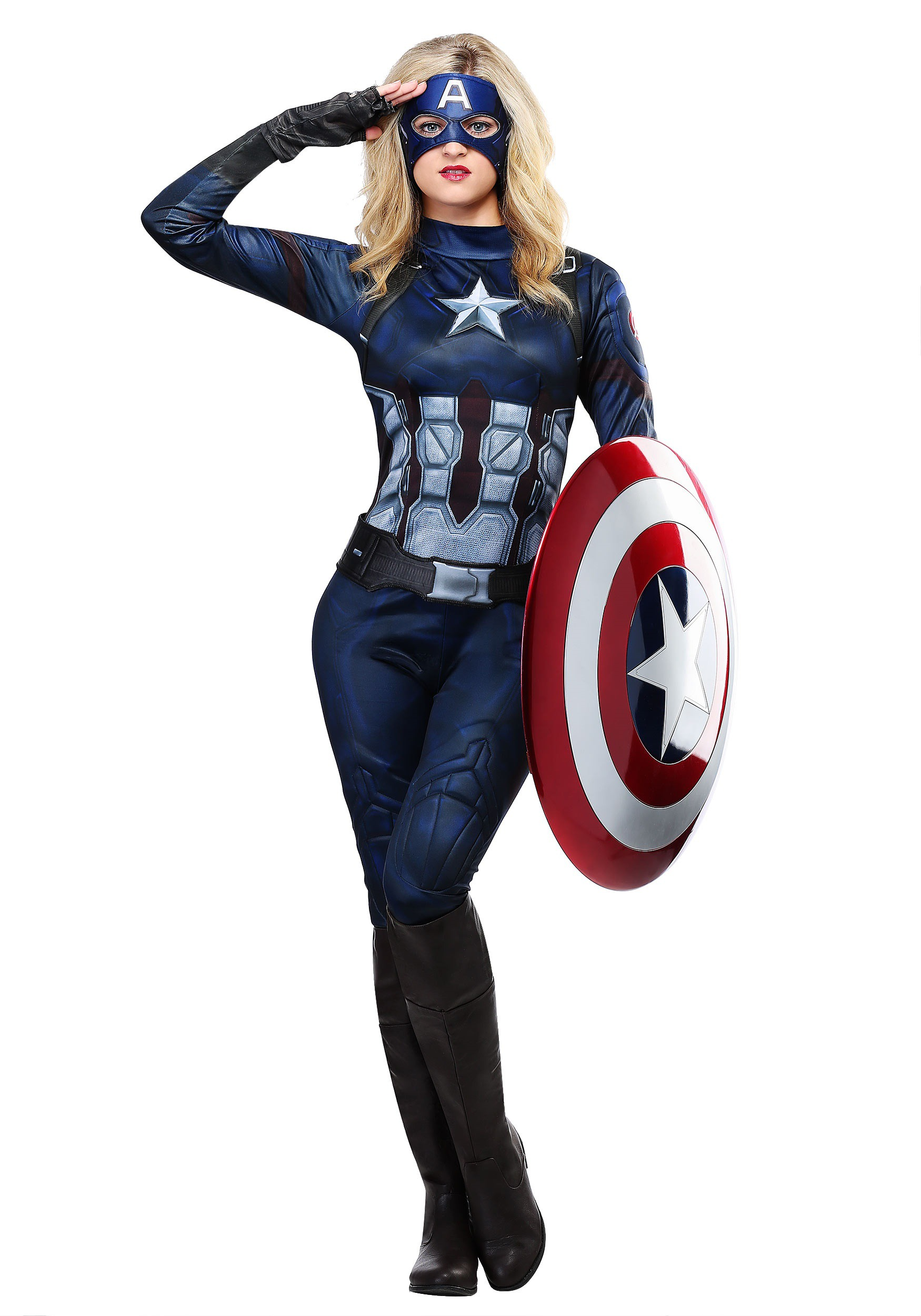 Captain America Womens Costume  sc 1 st  Halloween Costumes & Adult Plus Size Sexy Superhero Costumes