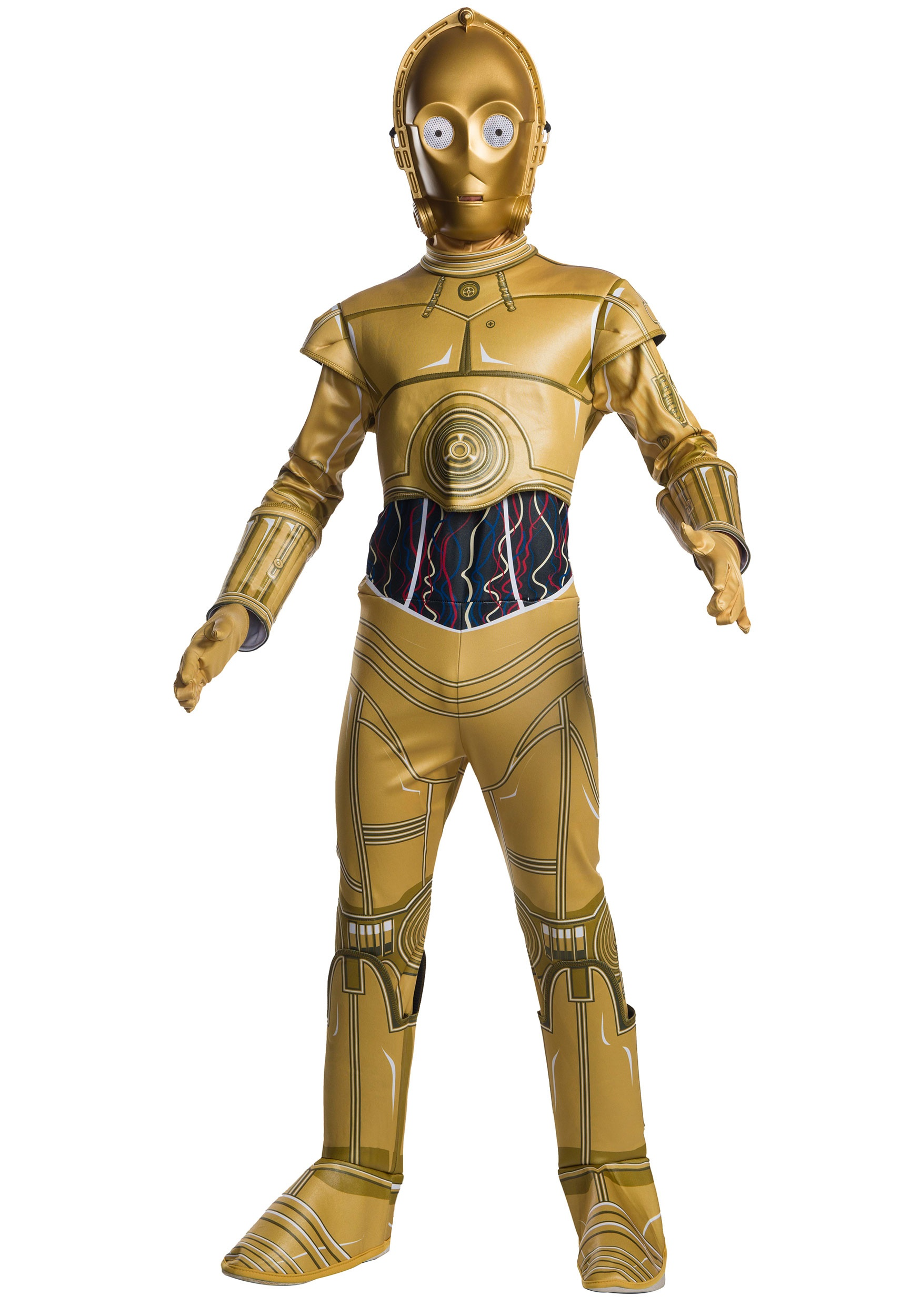 C3PO Costumes - C-3PO Star Wars Halloween Costume Adult 773c907d2f10
