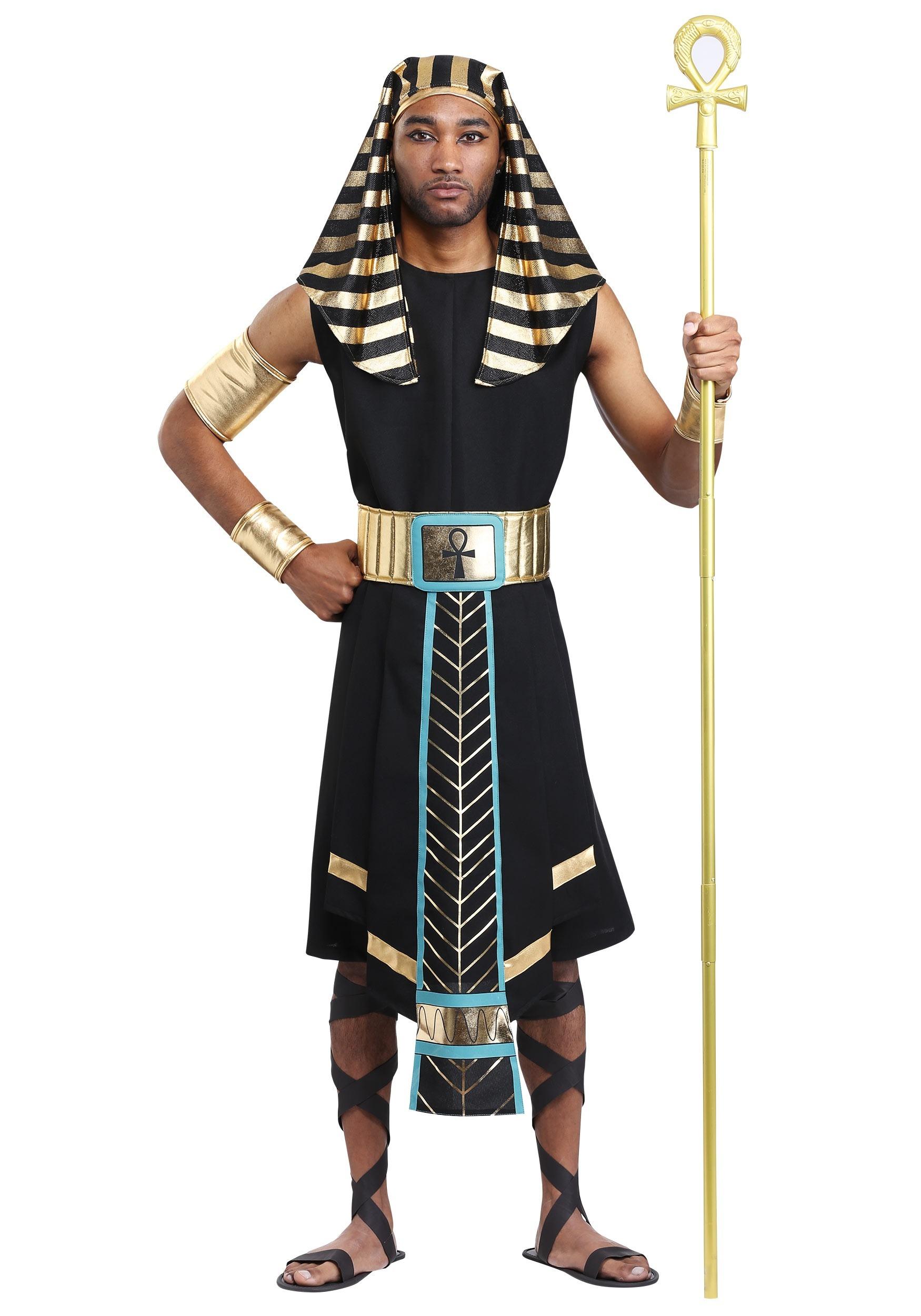 mens dark egyptian pharaoh costume