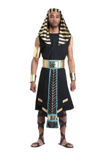 Click Here to buy Dark Egyptian Pharaoh Mens Costume from HalloweenCostumes, CDN Funds