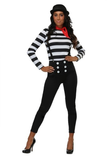 Click Here to buy Mime Womens Costume from HalloweenCostumes, CDN Funds