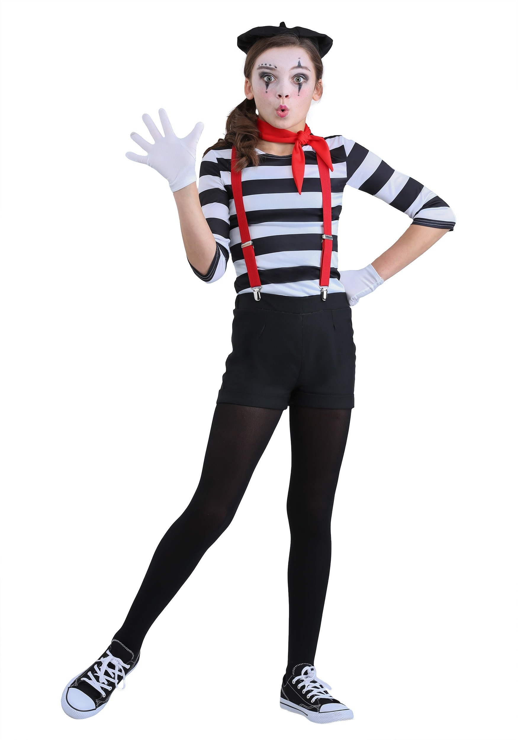 Girlu0027s Mime Costume  sc 1 st  Halloween Costumes & Mime Costume for Girls