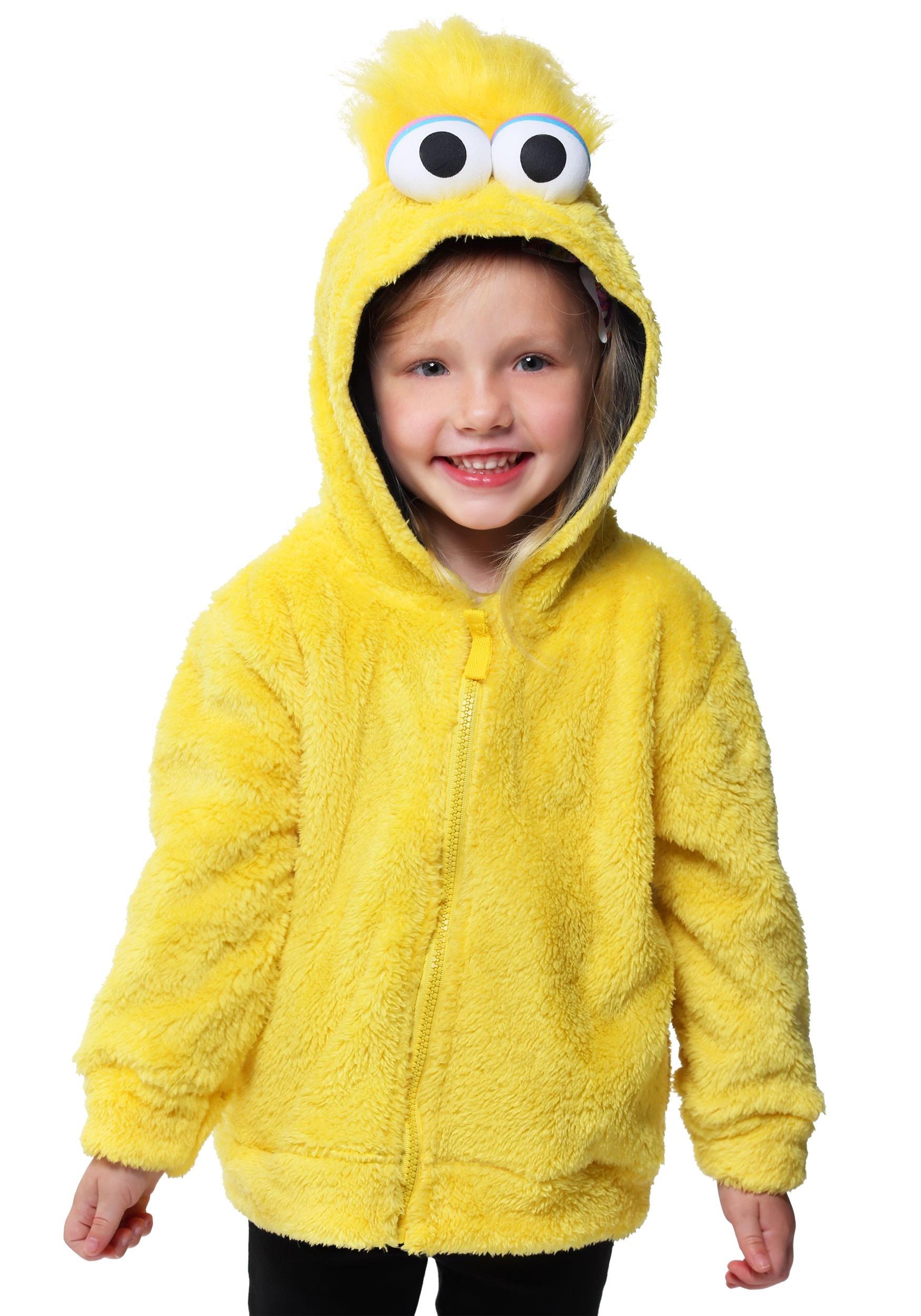 Sesame Street Big Bird Faux Fur Costume Hoodie For Kids