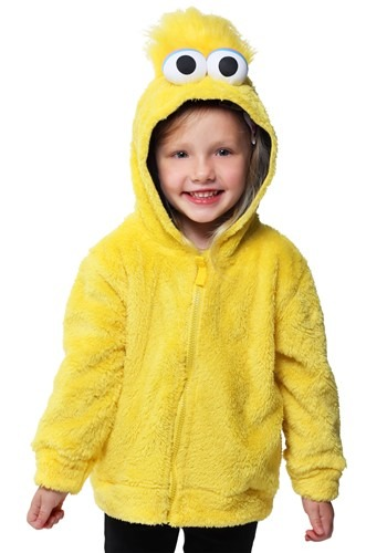 Sesame Street Big Bird Faux Fur Kids Costume Hoodie Update M