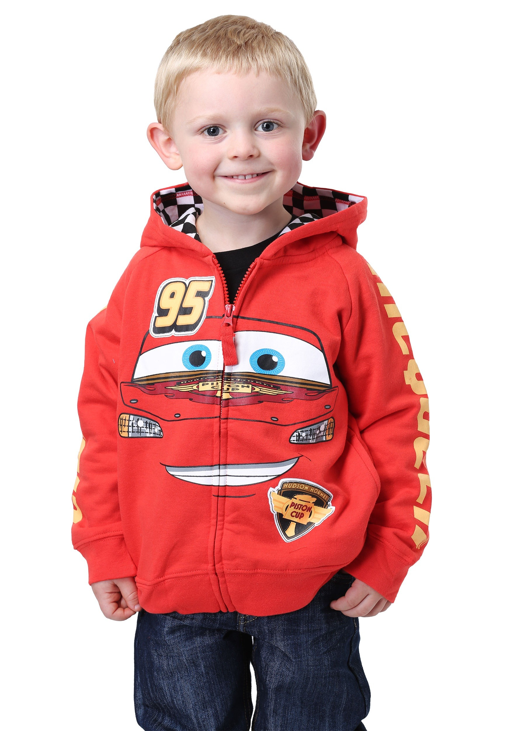 Disney Cars Lightning McQueen Kids Costume Hoodie  sc 1 st  Halloween Costumes & Disney Cars Lightning McQueen Costume Hoodie for Kids
