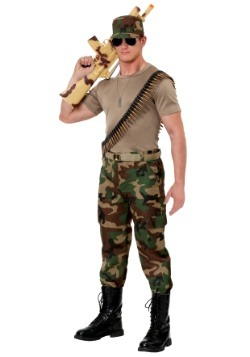Men's Camo Soldier Costume