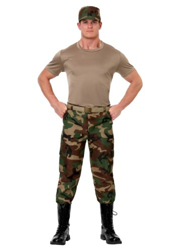 Click Here to buy Mens Camo Soldier Costume from HalloweenCostumes, CDN Funds