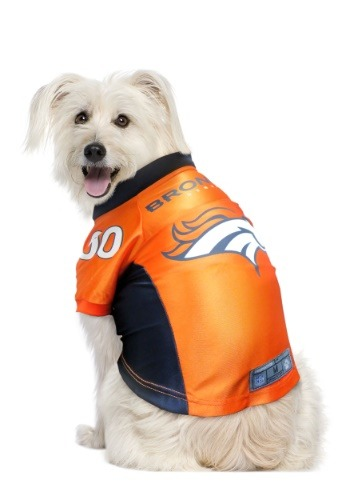Click Here to buy Denver Broncos NFL Premium Pet Jersey from HalloweenCostumes, USA Funds & Shipping