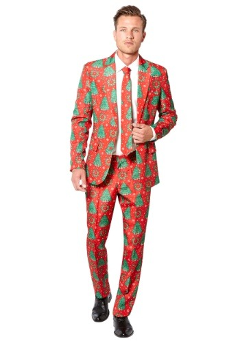 Mens Red Christmas Trees Suitmeister Suit