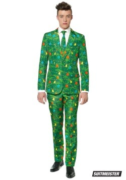 Green Christmas Tree Mens Suitmiester Suit
