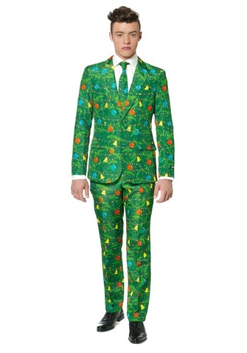 Green Christmas Tree Suitmeister Suit for Men