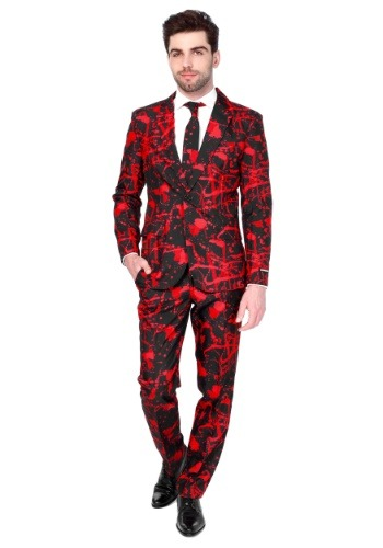 Click Here to buy Halloween Blood Suitmeister Suit for Men from HalloweenCostumes, CDN Funds