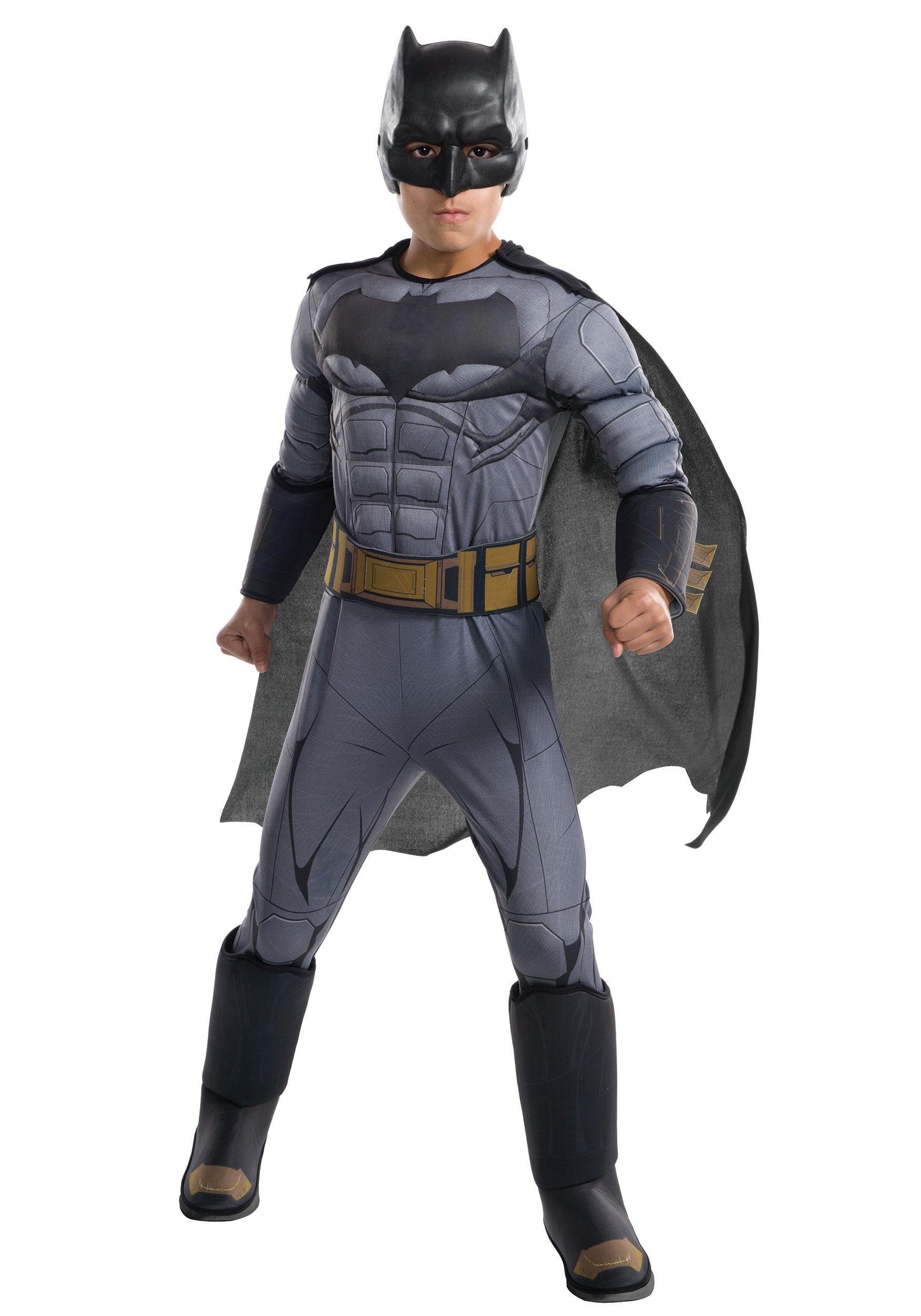 Justice League Deluxe Batman Boys Costume  sc 1 st  Halloween Costumes & Justice League Deluxe Batman Costume for Boys