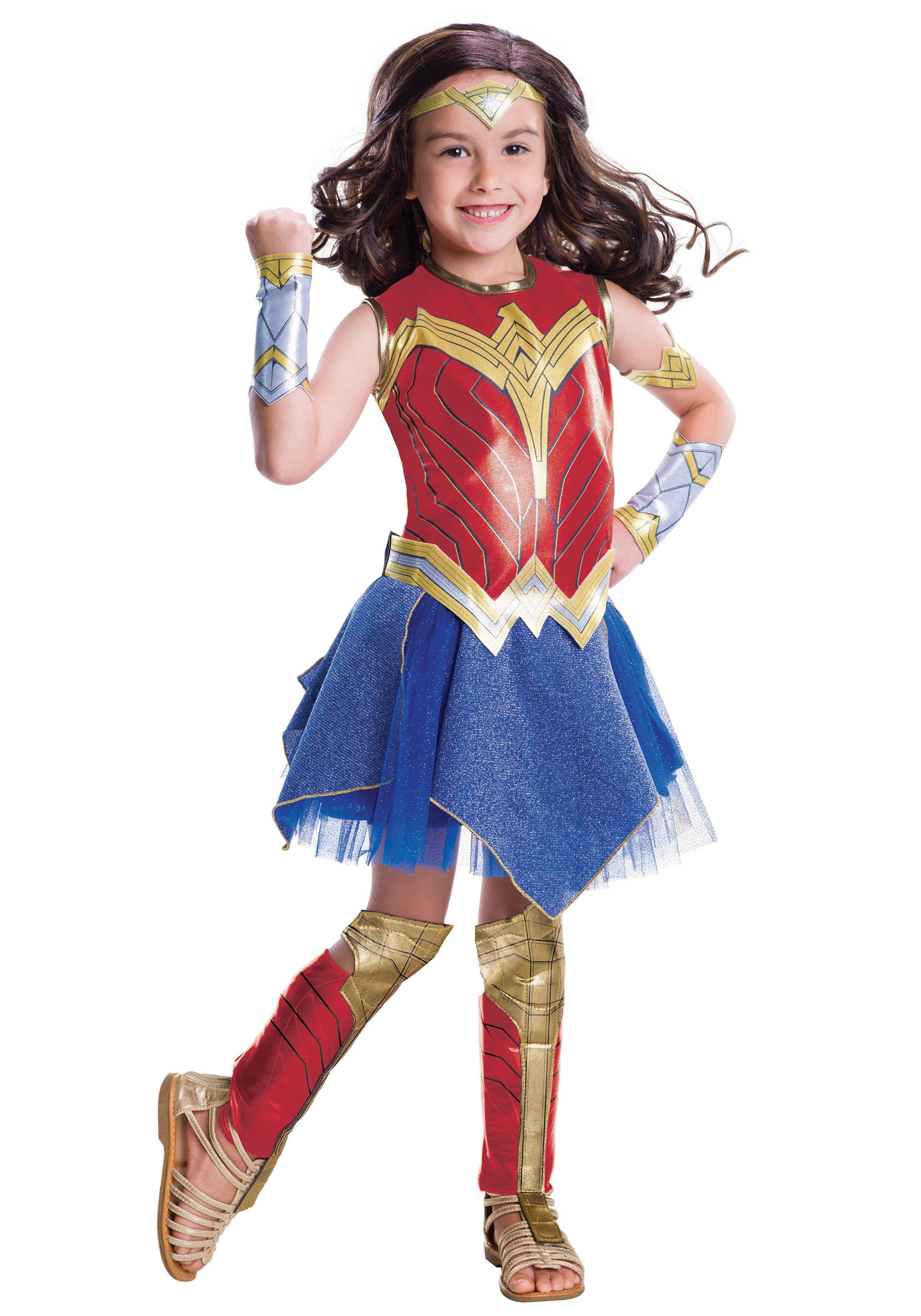 justice league deluxe wonder woman costume for girls. Black Bedroom Furniture Sets. Home Design Ideas