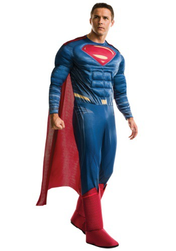 Click Here to buy Justice League Adult Deluxe Superman Costume from HalloweenCostumes, CDN Funds