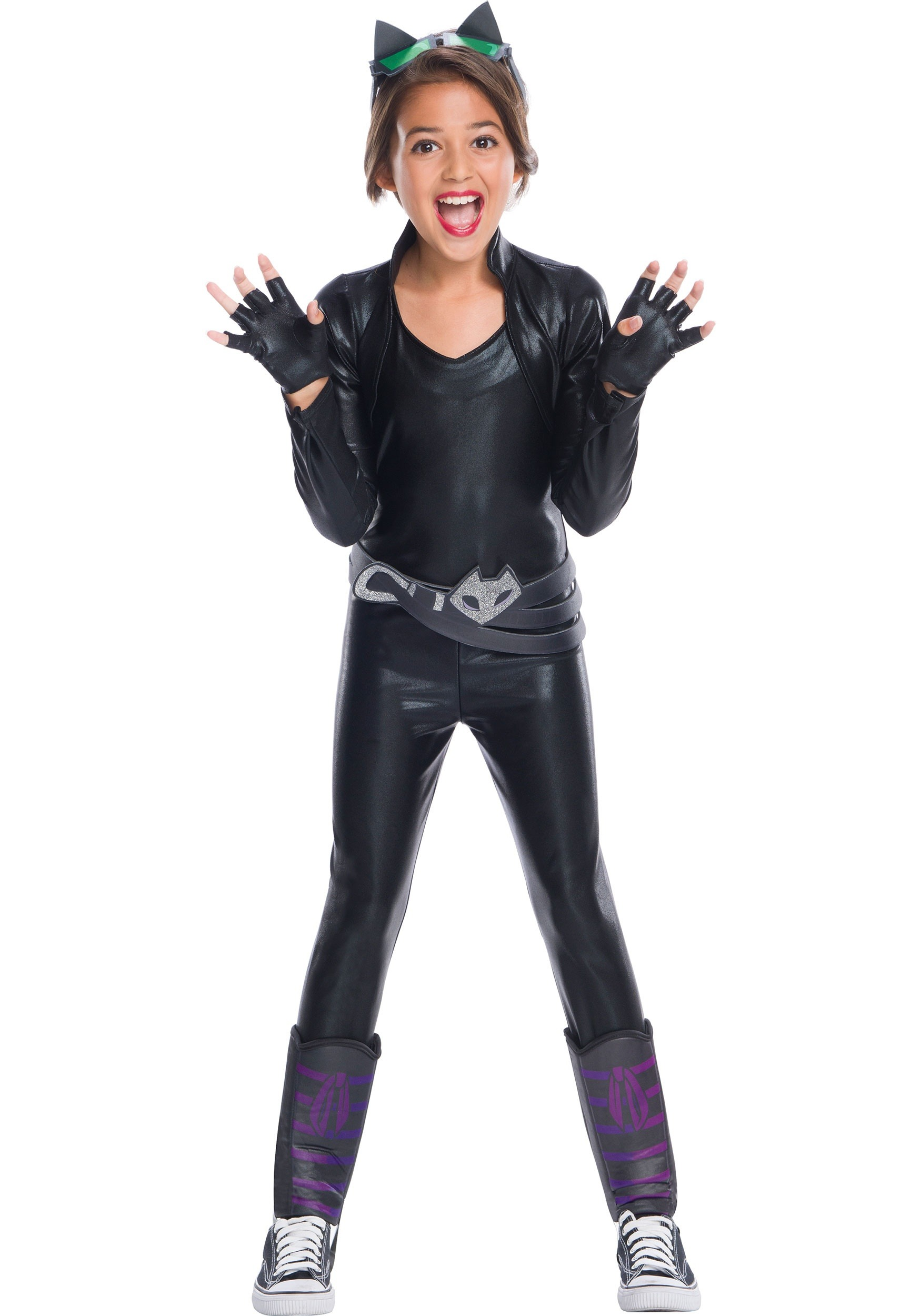 DC Superhero Girls Catwoman Costume  sc 1 st  Halloween Costumes & DC Superhero Girls Catwoman Costume for Girls