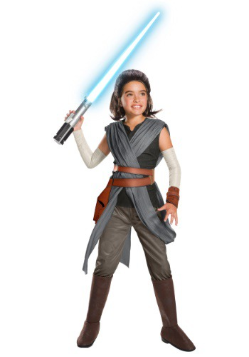 Star Wars The Last Jedi Super Deluxe Rey Kids Costume RU640112-L