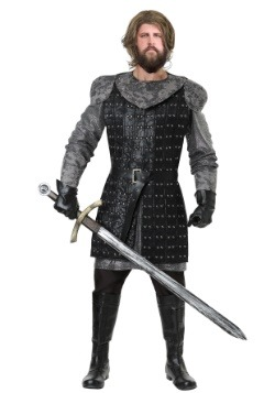 Men's Plus Size Wolf Warrior Costume
