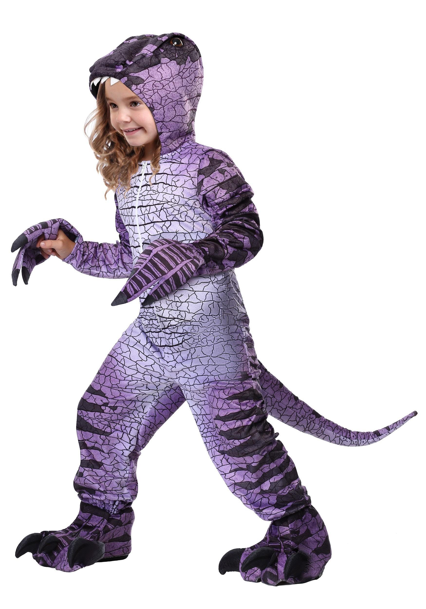 F Dinosaur Hooded Jumpsuit