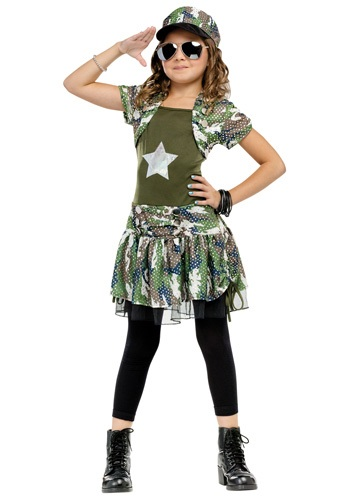 Kids Army Costume Dress