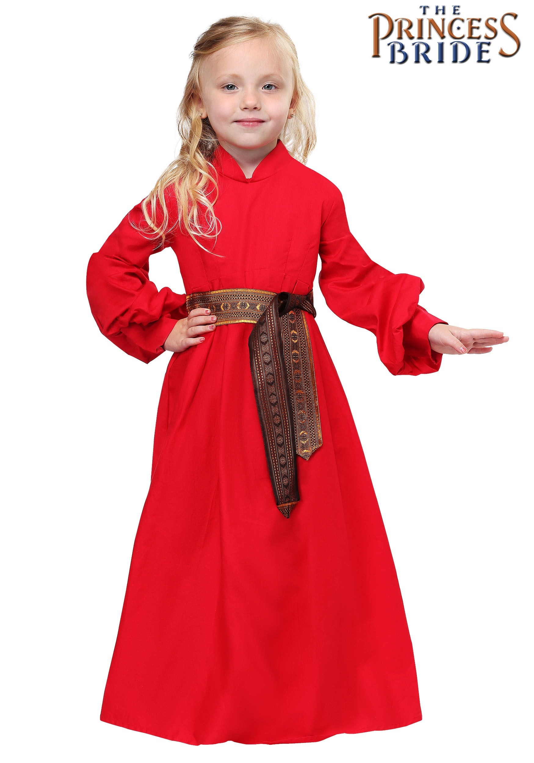THE PRINCESS BRIDE TODDLER BUTTERCUP PEASANT DRESS red