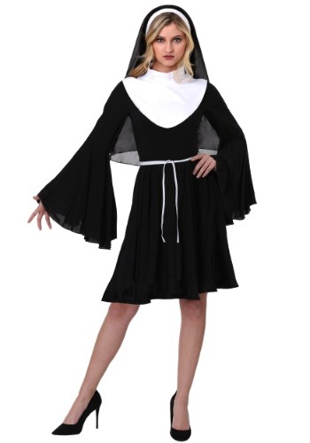 Click Here to buy Sassy Nun Womens Costume from HalloweenCostumes, CDN Funds