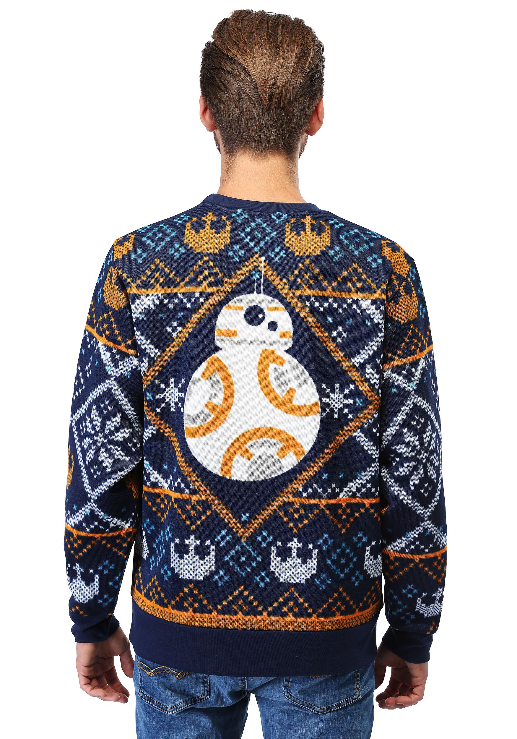 Star Wars Bb8 Navy Ugly Christmas Sweater For Adults