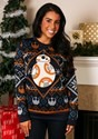 Star Wars BB8 Navy Ugly Christmas Sweater alt1