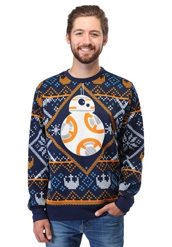 Image of Star Wars BB8 Navy Ugly Christmas Sweater
