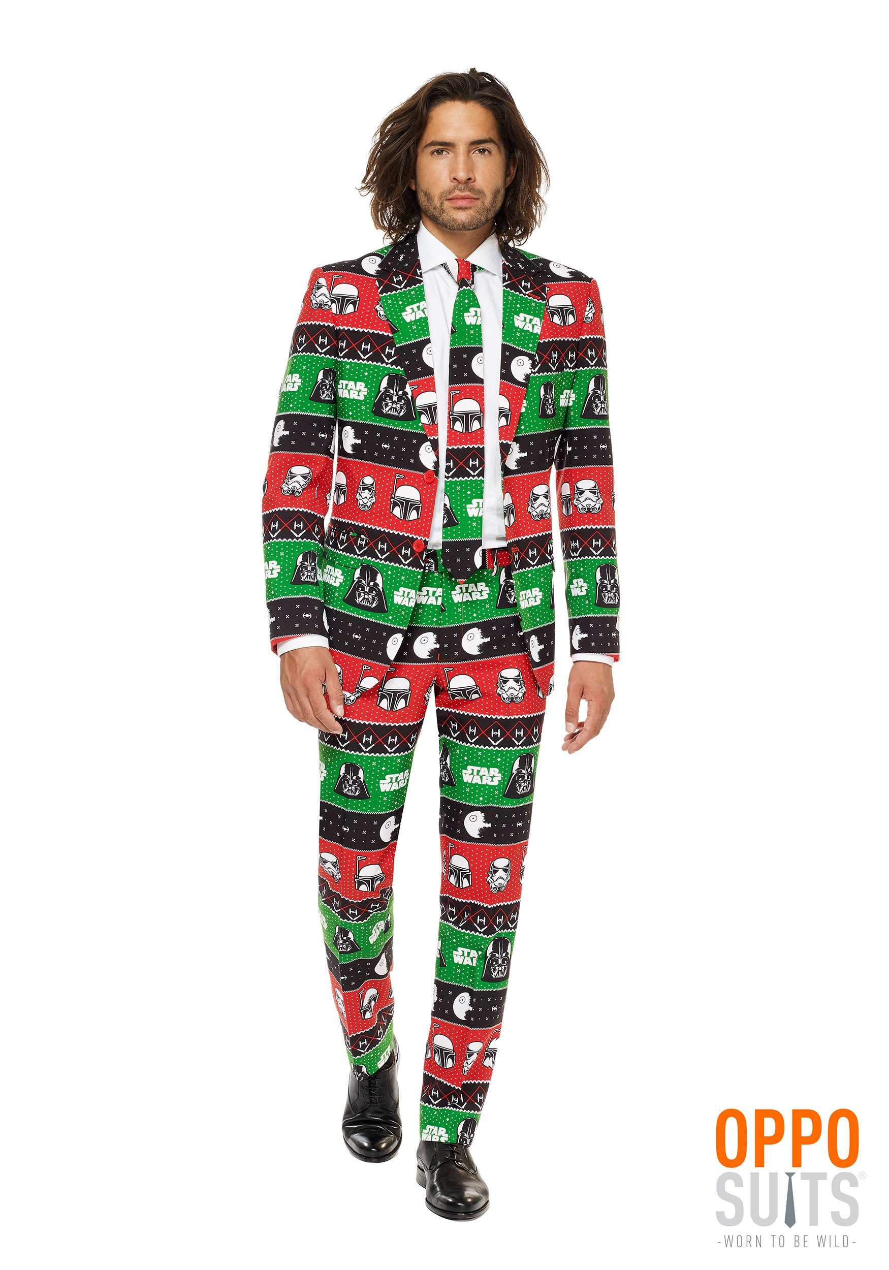 ce9e018a1b2a4c Men's Star Wars Festive Force Christmas Opposuit