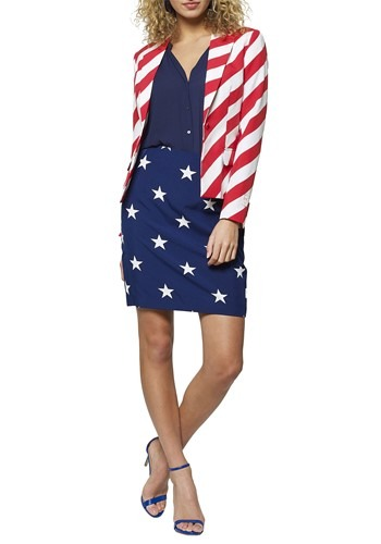 STARS AND STRIPES WOMEN'S OPPOSUIT - Edgy Cosplay Halloween Costumes