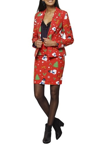 WOMEN'S MS. CHRISTMAS OPPOSUIT- Ugly Christmas Cosplay Halloween