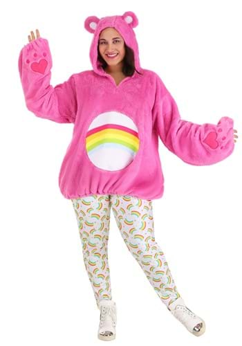 Click Here to buy Care Bears Deluxe Cheer Bear Costume for Plus Size Women from HalloweenCostumes, CDN Funds