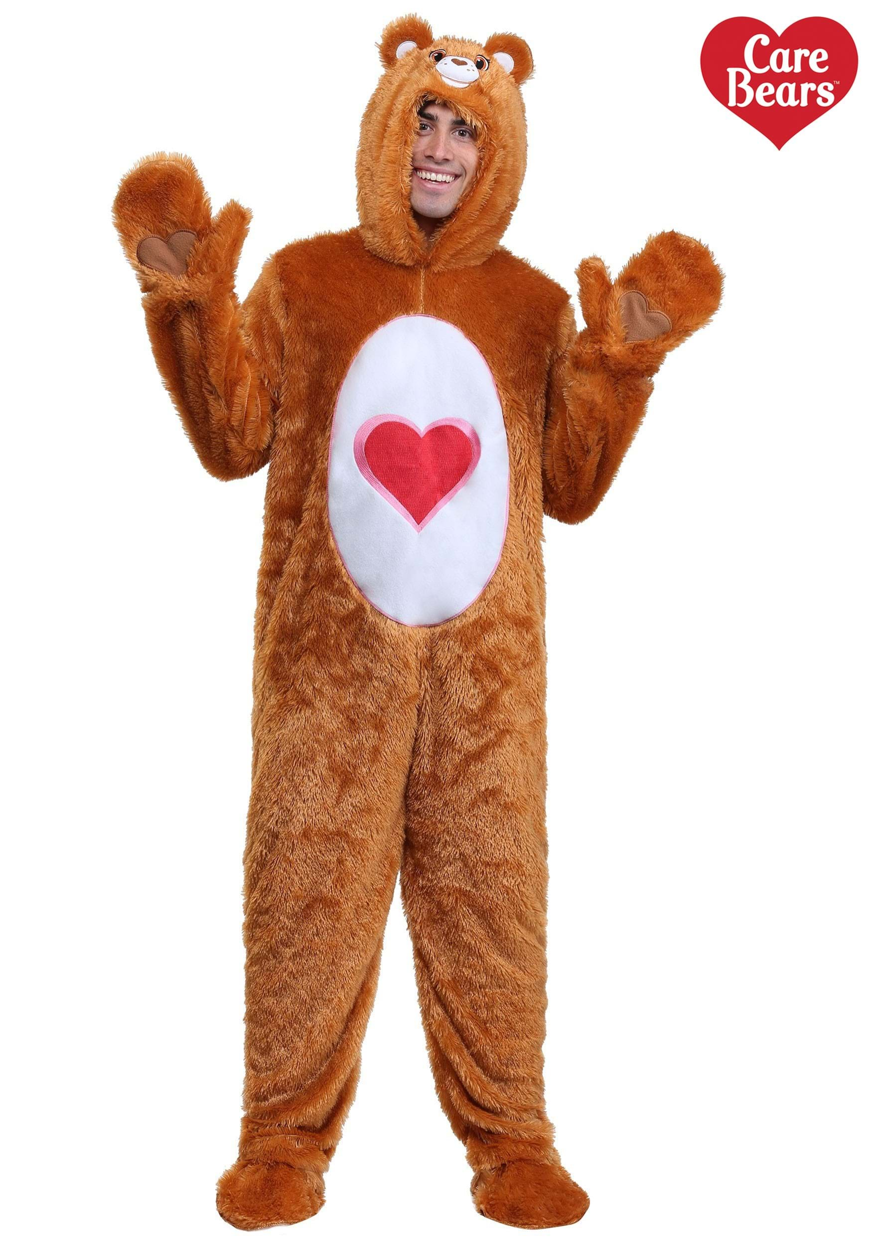 Adult Plus Size Classic Tenderheart Care Bears Costume 2X 3X-9899