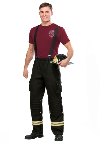 Click Here to buy Fire Captain Plus Size Mens Costume from HalloweenCostumes, USA Funds & Shipping