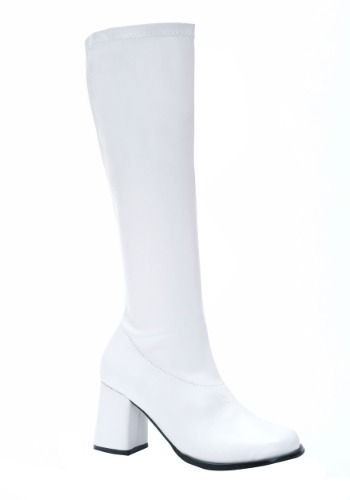 Adult Women's White Gogo Boots