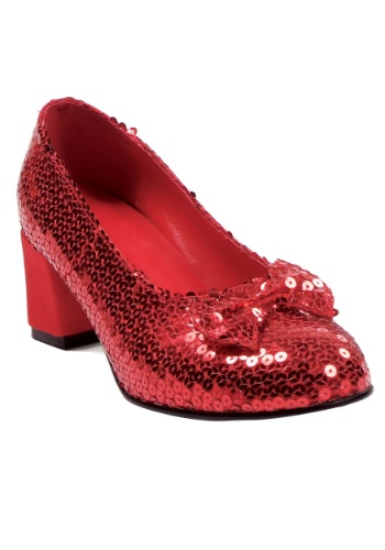 Womens Red Sequined Shoes