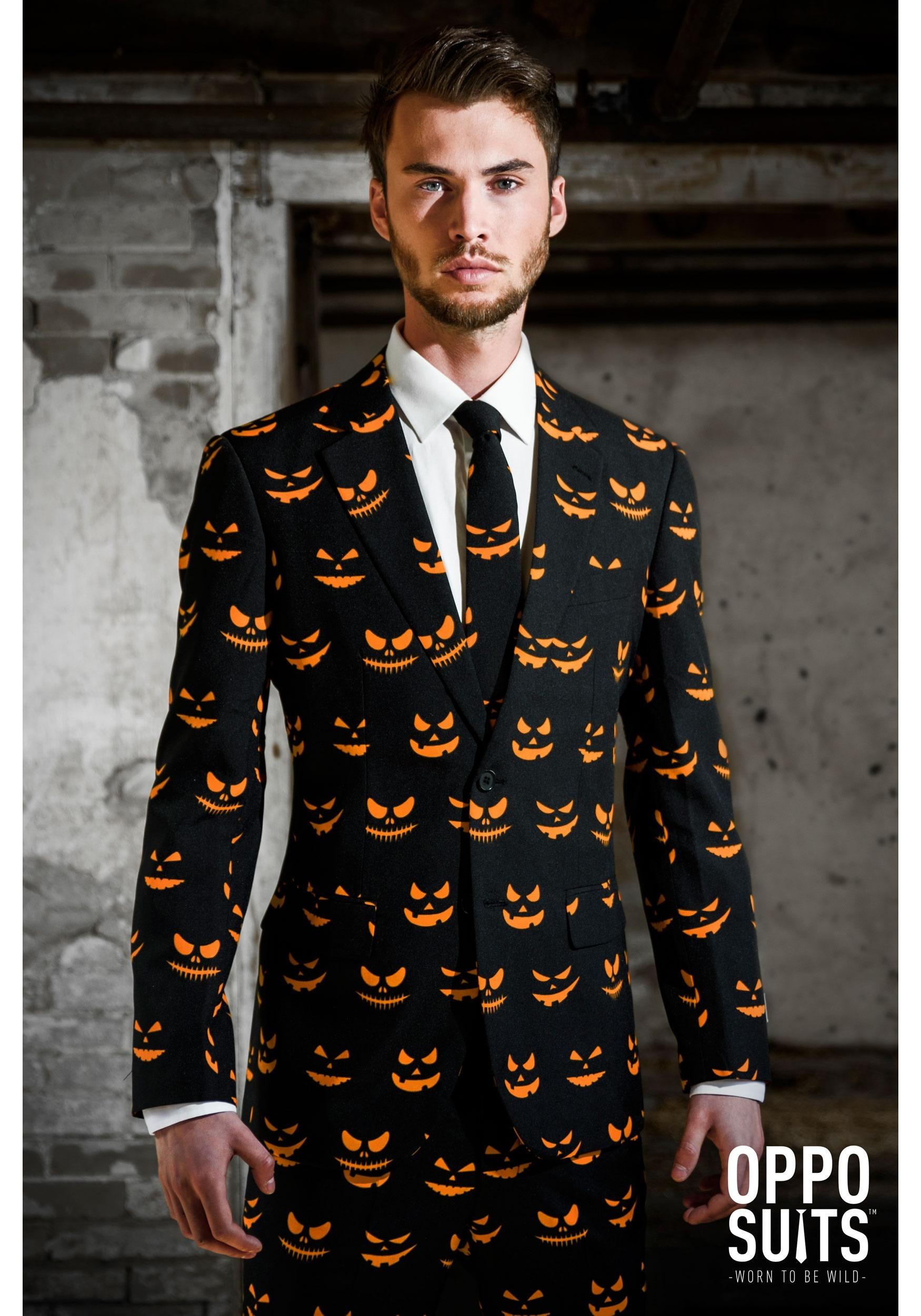 OppoSuits Men's Pumpkin Costume Suit