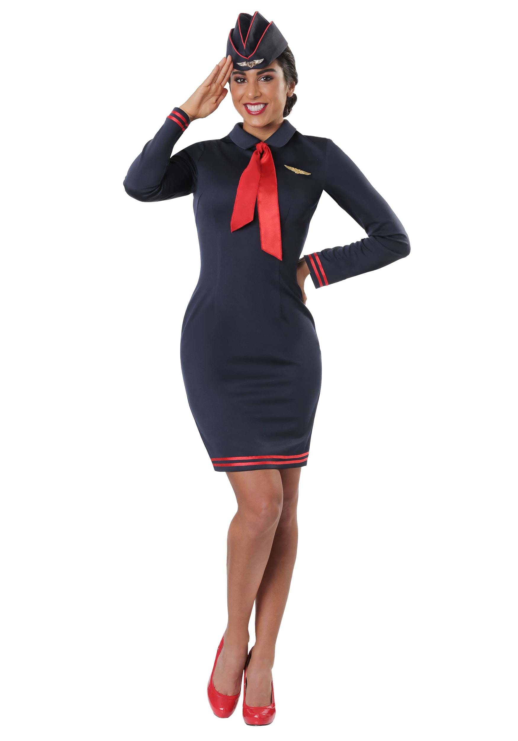 Workin The Skies Flight Attendant For Women Costume