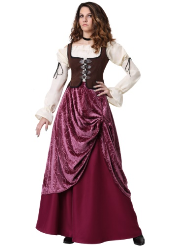 Click Here to buy Tavern Wench for Women Plus Size Costume 1X 2X 3X from HalloweenCostumes, CDN Funds