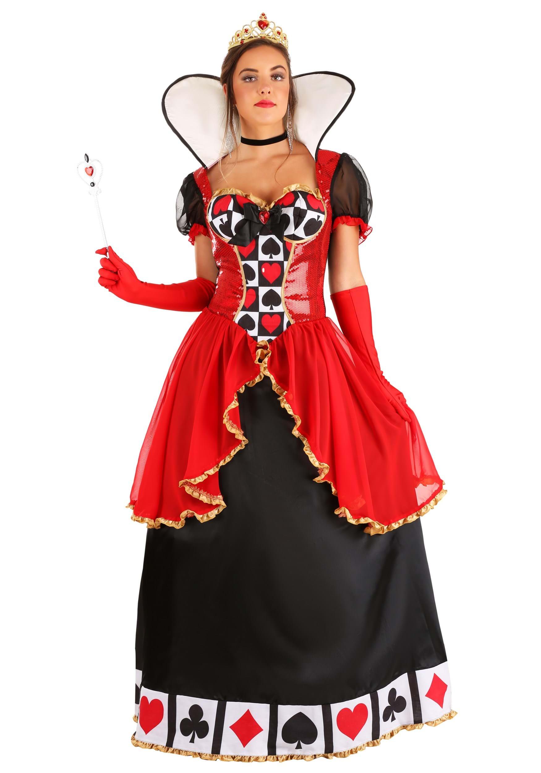 Women S Supreme Queen Of Hearts Costume