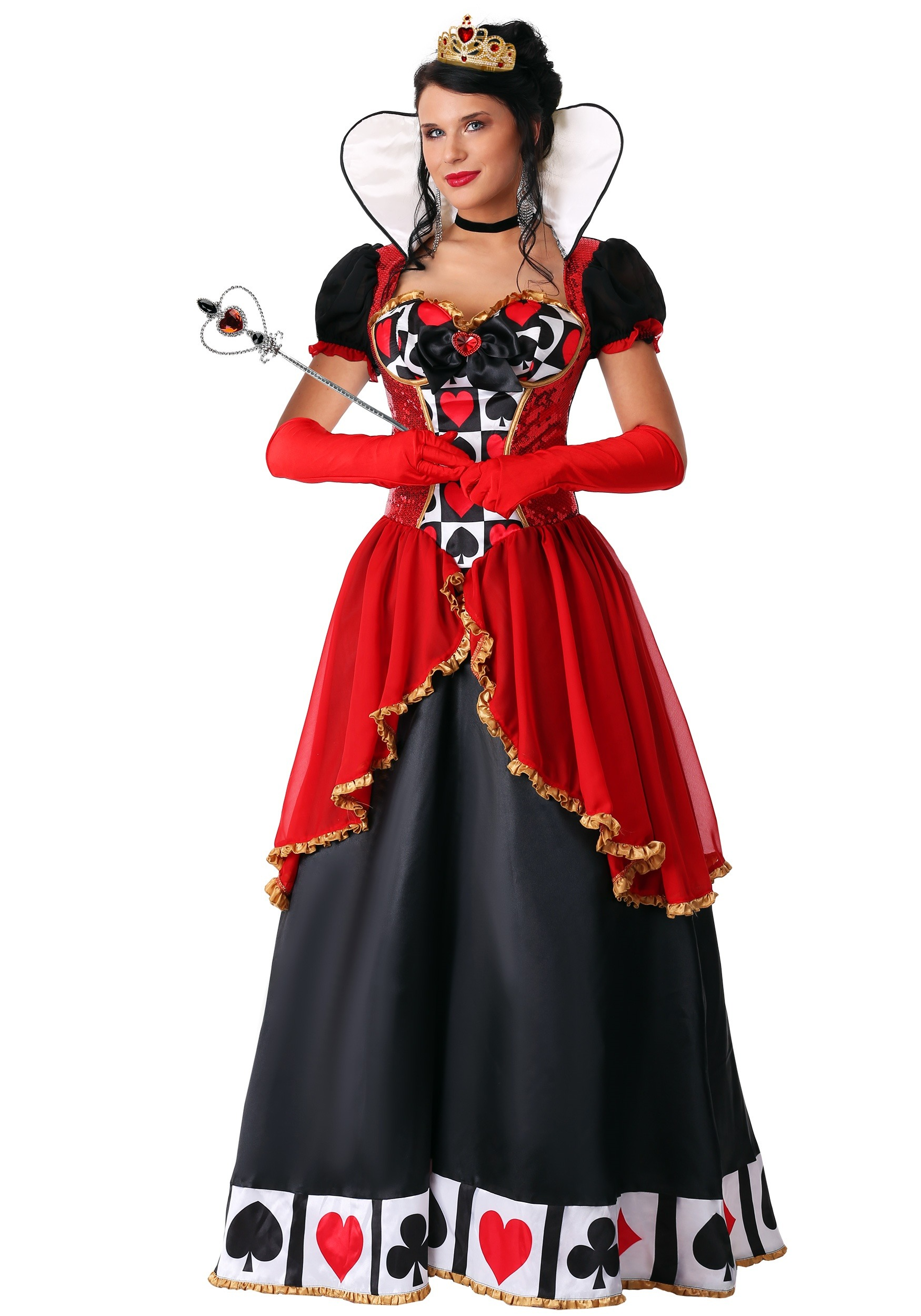 supreme queen of hearts costume for plus size women 1x 2x 3x. Black Bedroom Furniture Sets. Home Design Ideas