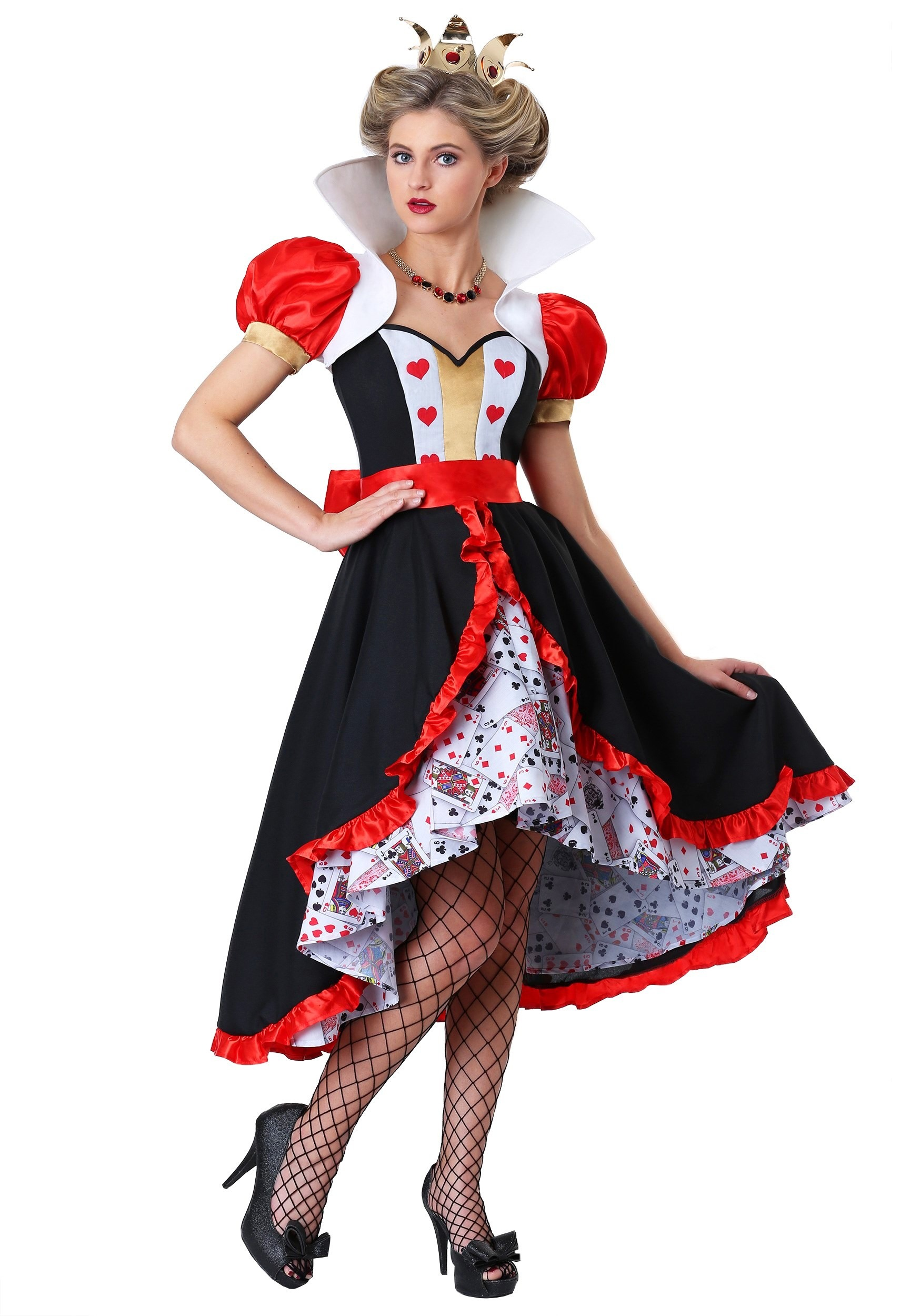 womens flirty queen of hearts costume